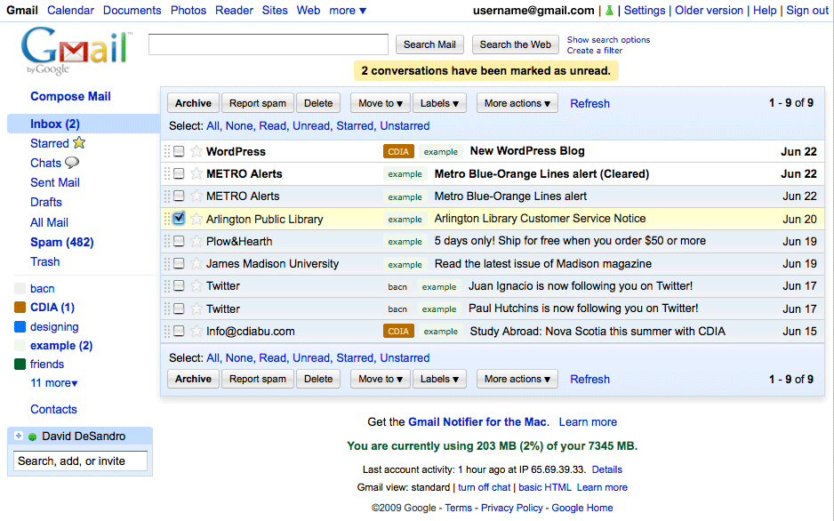 Introducing Gmail Vitamin: a userstyle · David DeSandro